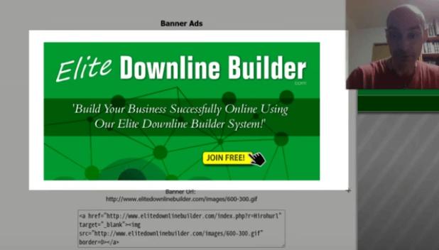 Standard EliteDownlineBuilder ad for LeadsLeap